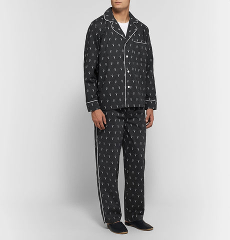 Lowell Printed Cotton Pyjama Set