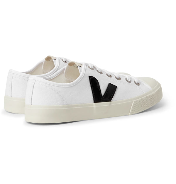 Wata Rubber-Trimmed Organic Cotton-Canvas Sneakers