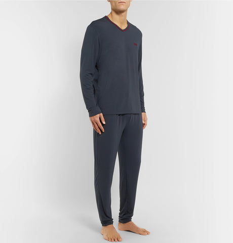 Stretch-Modal and Silk-Blend Jersey Pyjama Top