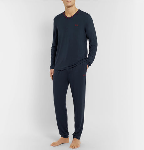 Stretch-Modal and Silk-Blend Jersey Pyjama Trousers