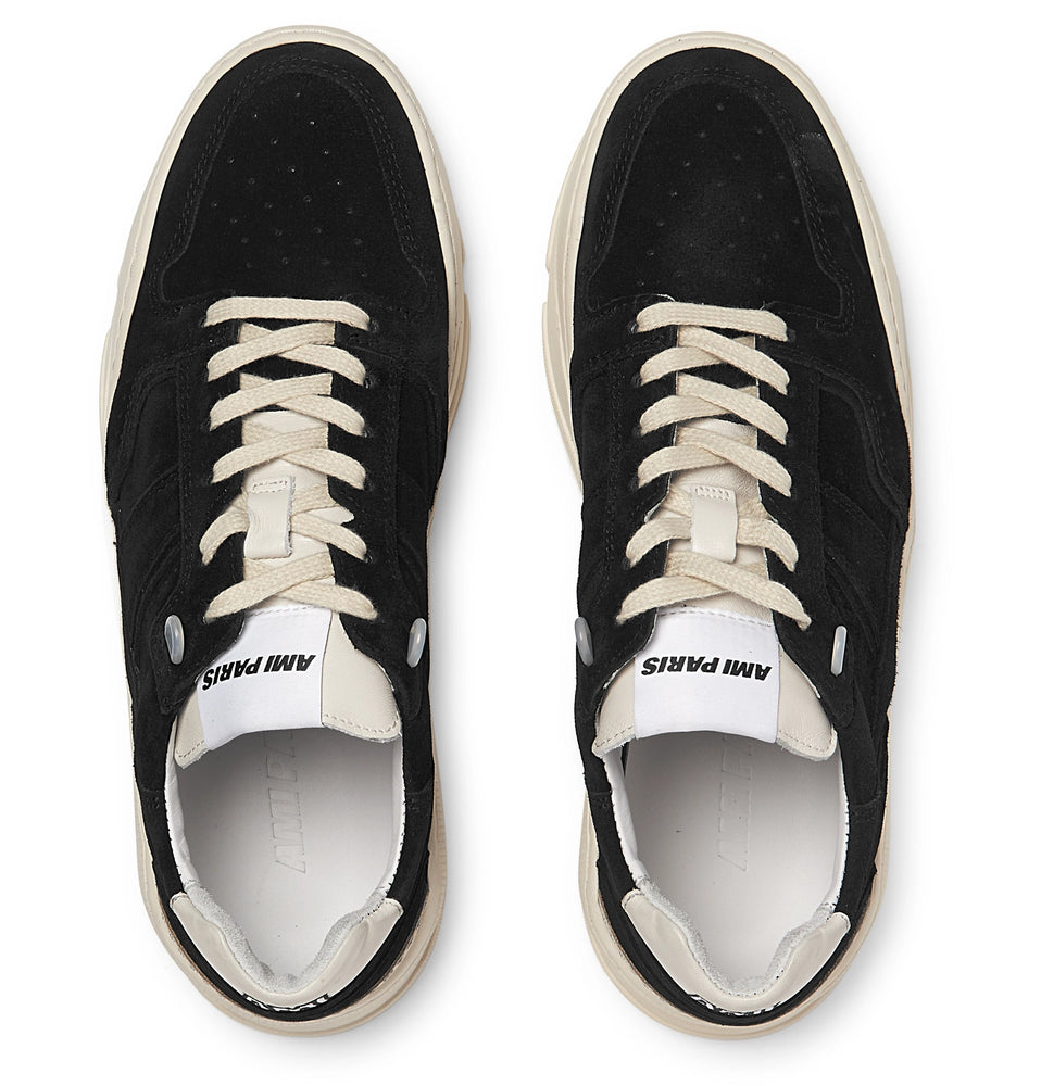 Leather-Trimmed Suede Sneakers