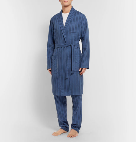 Medway Striped Organic Cotton Robe