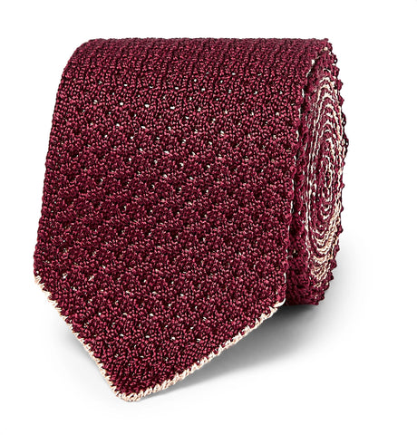 6cm Reversible Knitted Silk and Linen-Blend Tie