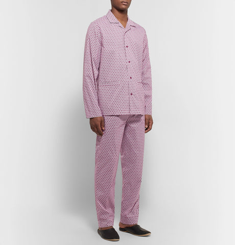 Printed Cotton-Blend Pyjama Set