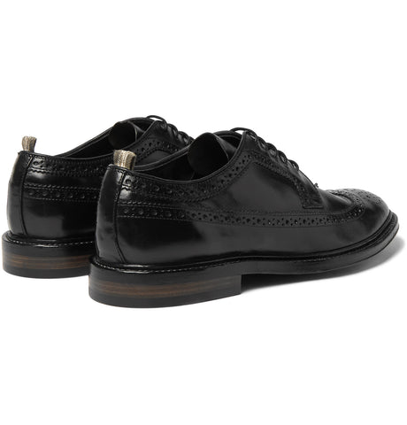 Cornell Polished-Leather Wingtip Brogues