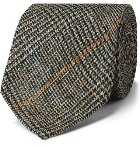 7cm Prince of Wales Checked Linen Tie