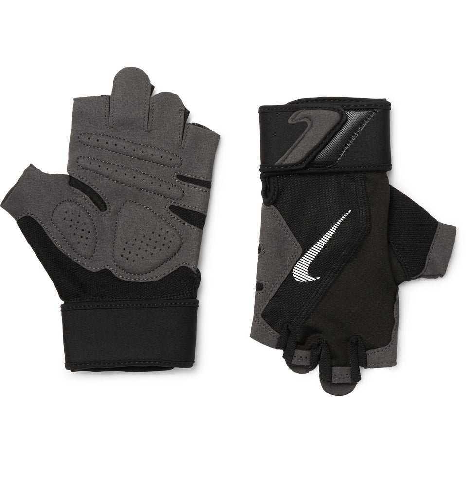 Microsuede Mesh and Jersey Training Gloves