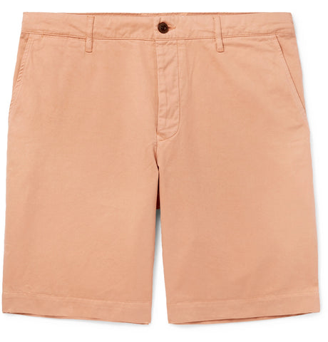 Slim-Fit Garment-Dyed Peached Cotton-Twill Bermuda Shorts