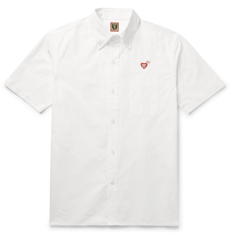 Button-Down Collar Logo-Embroidered Cotton-Ripstop Shirt