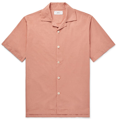 Camp-Collar Garment-Dyed Cotton Shirt
