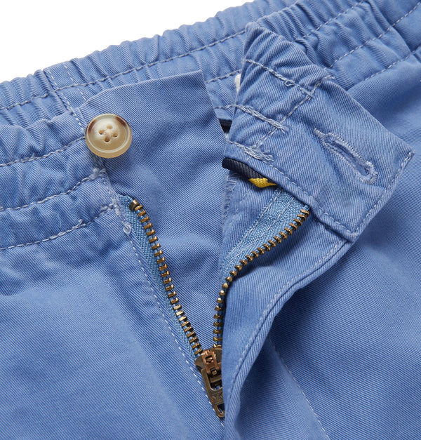 Washed Cotton-Blend Twill Shorts