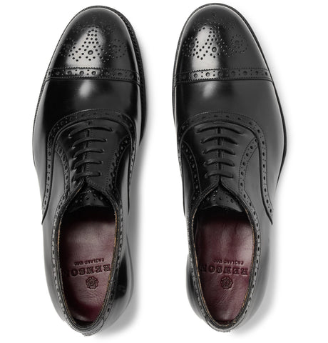 Walbrook Cap-Toe Leather Oxford Brogues