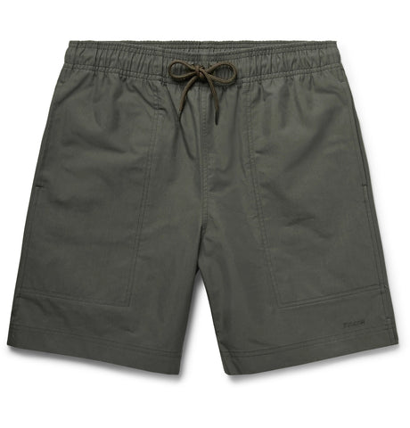 River Water Cotton-Blend Canvas Drawstring Shorts