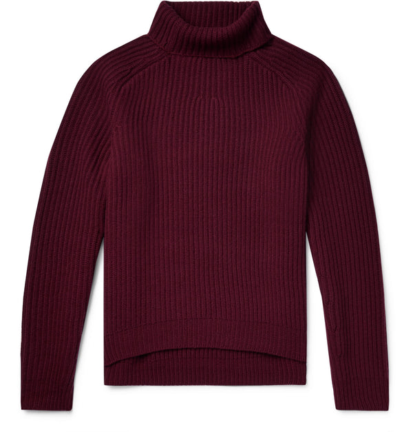 Kally Ribbed Wool Rollneck Sweater