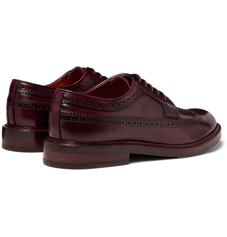 Polished-Leather Longwing Brogues