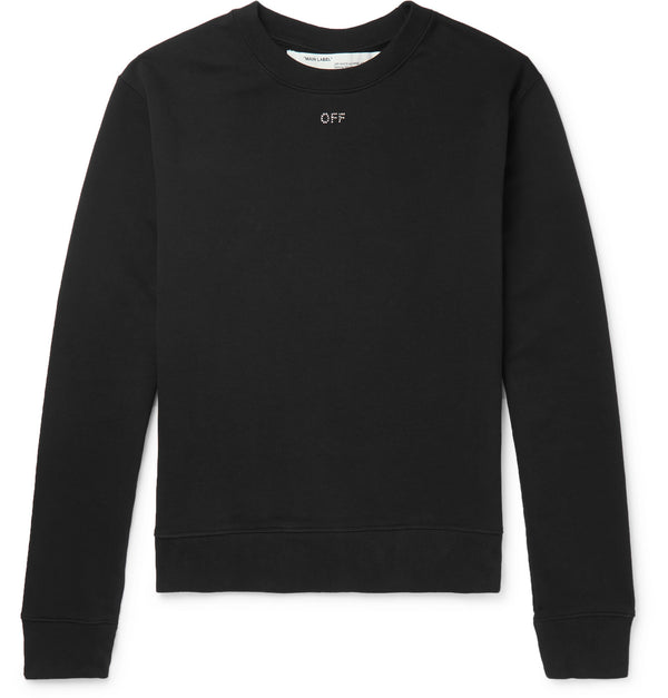 Logo-Embellished Loopback Cotton-Jersey Sweatshirt