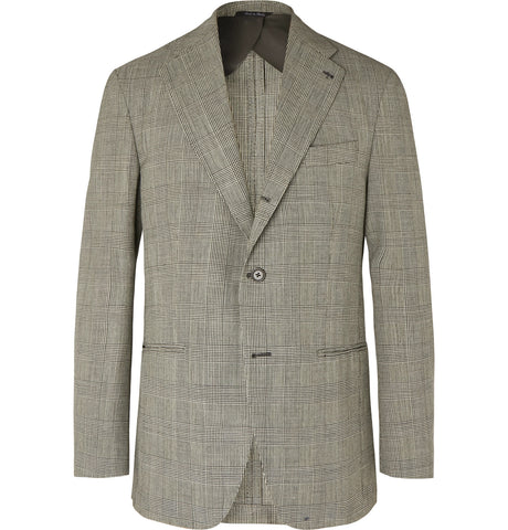 Black Dan II Prince of Wales Checked Wool Blazer