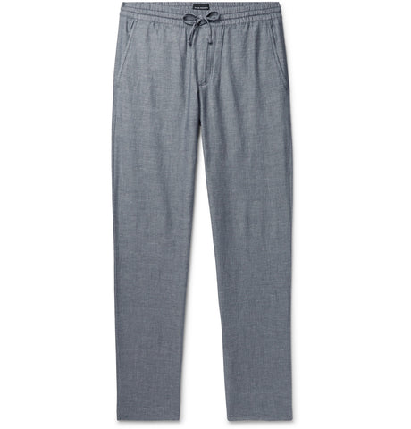 Slim-Fit Cotton-Blend Drawstring Trousers