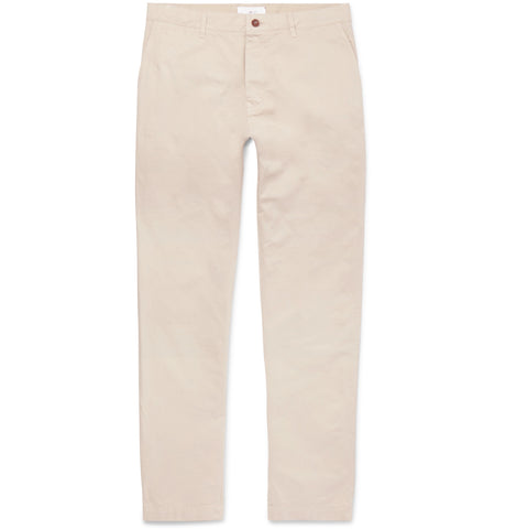 Straight-Leg Garment-Dyed Cotton-Twill Chinos