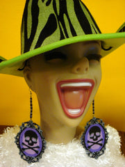 HALLOWEEN ---- Earrings Great For Halloween -- No Costume Needed When You Wear These! - Free Shipping