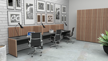 Load image into Gallery viewer, Venice Solid Cedar Fronted Reception Desk