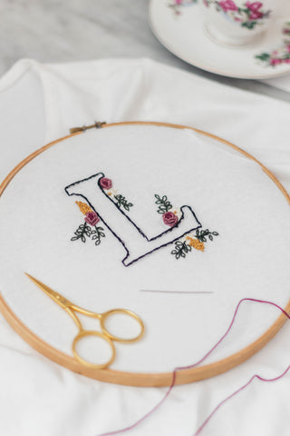 Alphabet for Hand Embroidery - Free PDF Template