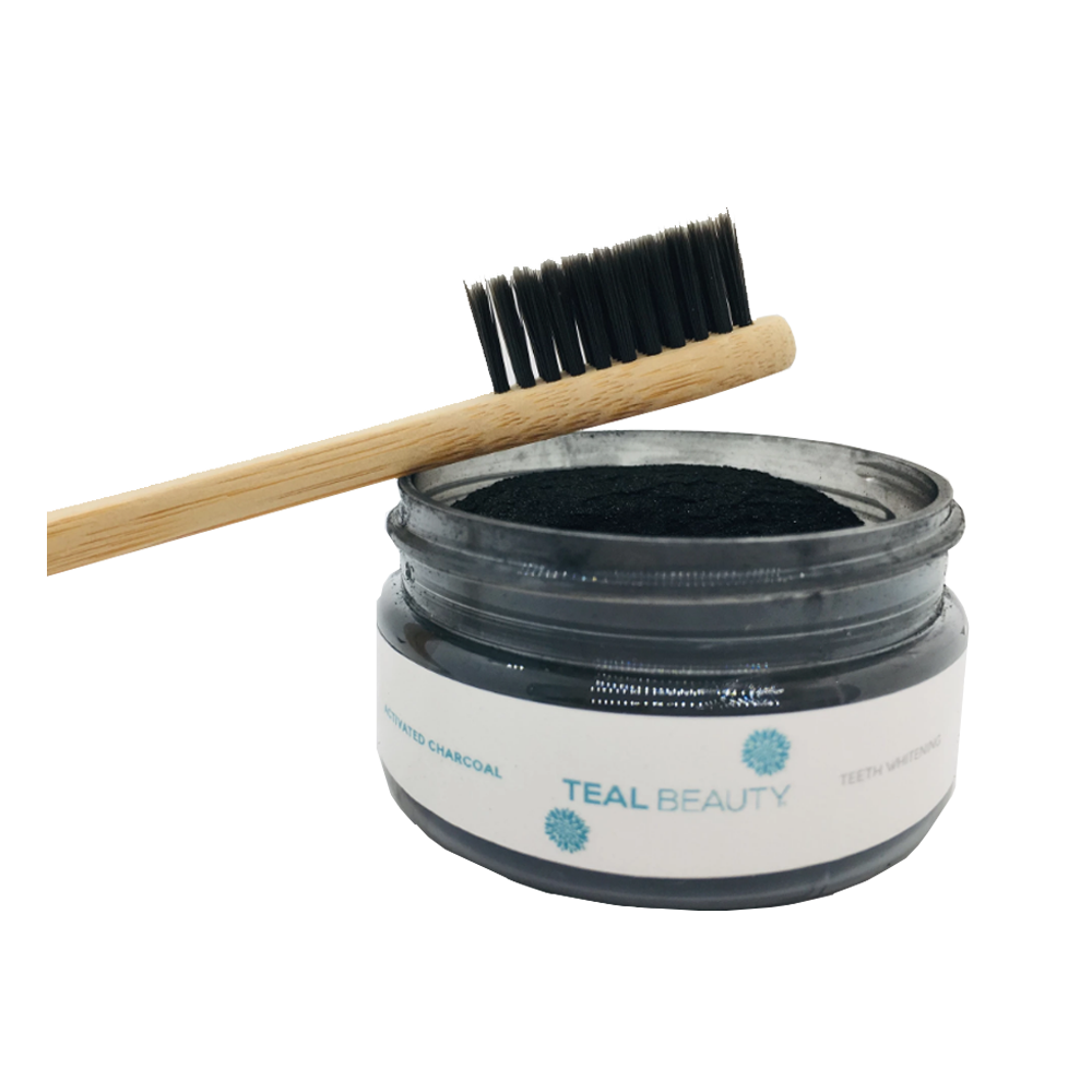 Activated Charcoal Teeth Whitening (With Bamboo Tooth Brush)