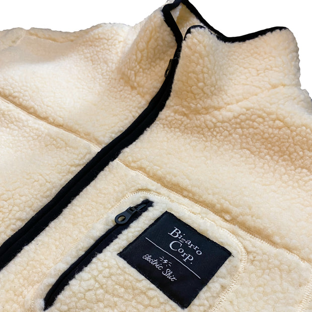 Fleece Zip Jacket - Cream