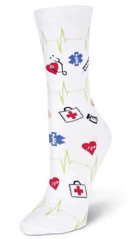 Women's Medical Supplies Crew Socks - Socksplus1