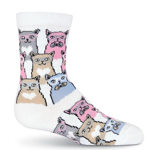 Kid's Smarty Cats Crew Socks - Socksplus1