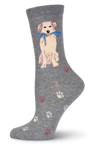 Women's Dog Walk Crew Socks - Socksplus1
