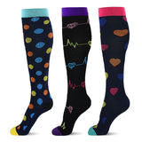 3 Pairs Compression Socks - Socksplus1