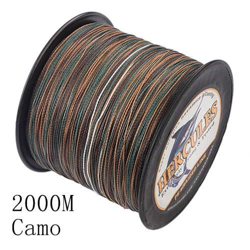 Hercules Fishing 4 Strands 100M 300M 500M 1000M 1500M 2000M PE Braided Fishing Line Saltwater Weave Carp Fishing Cord Pesca Wire - ShopRandy
