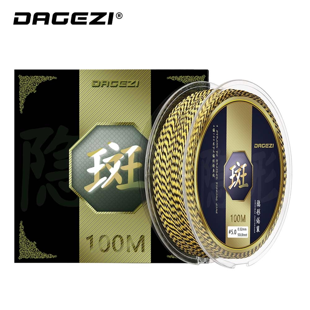 DAGEZI 100M 4Strand PE Braided Fishing Line 25 30 40 50 80LB 110yds Super Strong Multifilament Fishing Line Fishing Tackle - ShopRandy