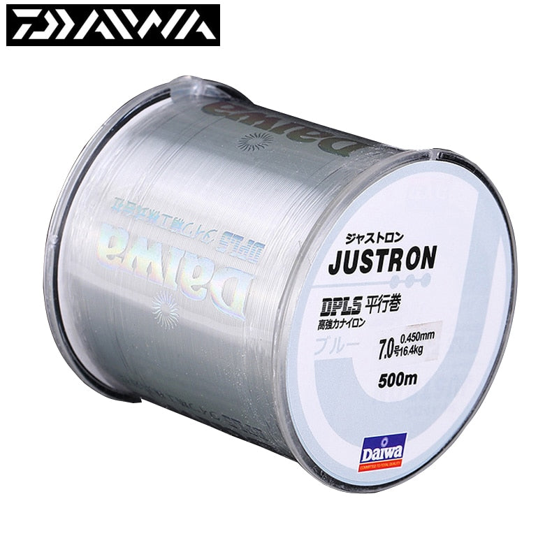 500m Daiwa Fishing Line Super Strong 100m Japan Brand Fishing Line Justron Nylon 2LB - 40LB 7 Colors Monofilament Main Line - ShopRandy