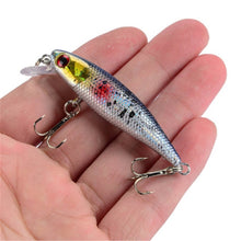Load image into Gallery viewer, 1PCS 6.5cm 4.5g Fishing Lure Quality Minnow Lure 3D Eyes Plastic Hard Bait Pesca Artificial Jig Wobblers Crankbait Fishing Bait