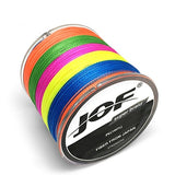 JOF 300M Multicolour PE Braided Wire 4 Strands Multifilament Japanese Fishing Line