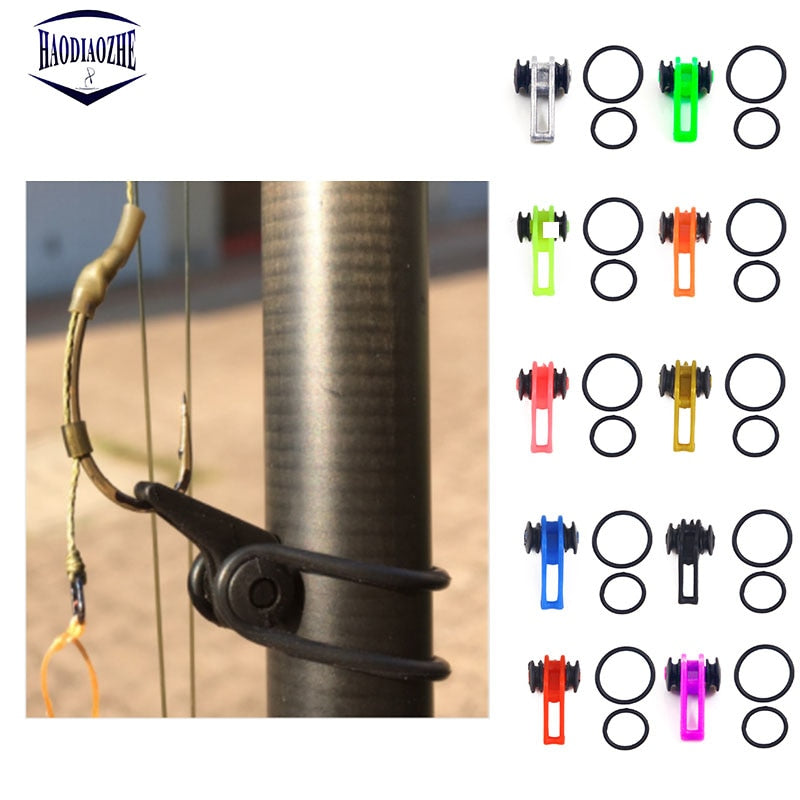 10pcs/bag Plastic Fishing Hook Secure Keeper Holder Lure Accessories Jig Hooks Safe Keeping For Fishing Rod Tool Bait Casting - ShopRandy
