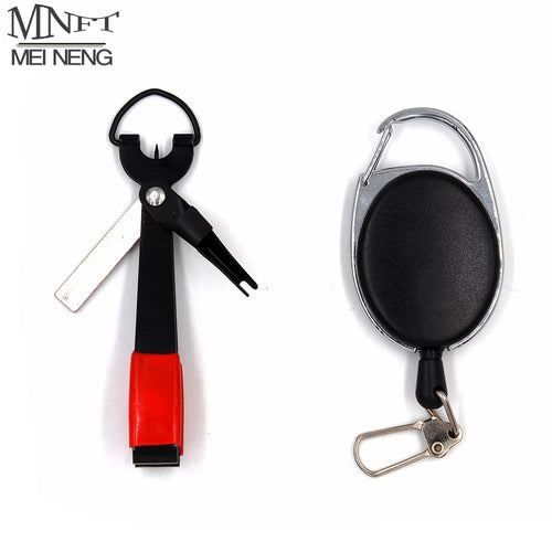 MNFT Pro Fast Tie Fishing Quick Knot Tool Nail Knotter Tying Line Cutter Clipper Nipper w/ Zinger Retractor Tackle Accessories