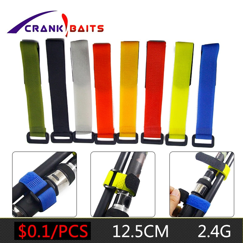 1pcs Reusable Fishing Rod Tie Holder Strap Suspenders Fastener Hook Loop Cable Cord Ties Belt Fishing Accessories YB329 - ShopRandy
