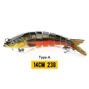 VTAVTA 14cm 23g Sinking Wobblers Fishing Lures Jointed Crankbait Swimbait 8 Segment Hard Artificial Bait For Fishing Tackle Lure - ShopRandy