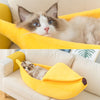 Cute DIY Banana Shaped Pet Bed for Puppy, Cats or Kittens