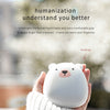 Cute Penguin/Polar Bear Mini Hand Warmer, USB Rechargeable 3600mAh Power Bank & Double Sided Quick Heating Hand Warmer