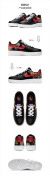 NIKE AIR FORCE 1 '07 LE AF1 Authentic Custom, Men Skateboarding Abrasion Resistant Sports Sneakers
