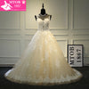Elegant French Lace Wedding Dress with Detachable belt Champagne, Beautiful Bride Costume