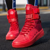 High Top Sneakers Boots,  Anti-skid Sole Outdoor Sports Sneakers Red/Black/Brown/white