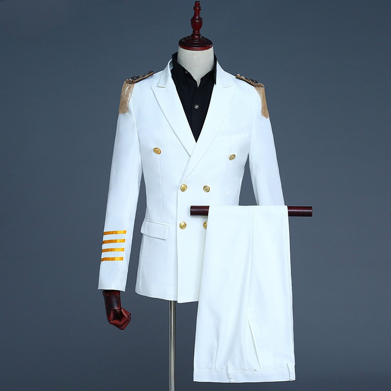 Hommes Mariage Costume 2 pièces Ivory