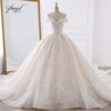 Sexy Sweetheart Lace Ball Gown Wedding Dresses 2019, Applique Beaded Flowers Chapel Train Bride Gown, Vestido De Noiva Luxury Bride Costume