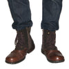 New England Boots, Genuine Leather Men Motorcycle Boots, Men's Casual Boots