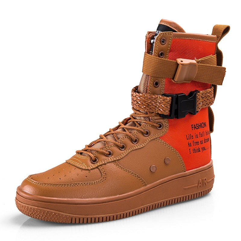 official shop usa cheap sale free delivery High Top Sneakers Boots, Anti-skid Sole Outdoor Sports Sneakers  Red/Black/Brown/white